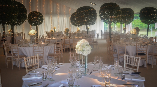 Wedding Table Decoration and Marquee